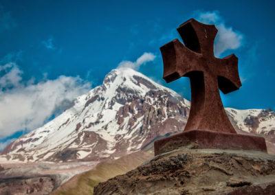 On the way up to Kazbek - Sabertse