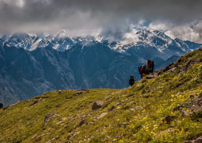 On the way up to Kazbek