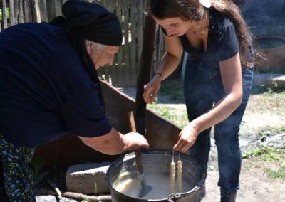 Nauka robienia czurczcheli w Kachetii