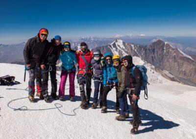 Na szczycie Kazbeku (5047 m)