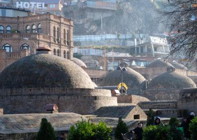 Banie siarkowe w Tbilisi - abanotubani