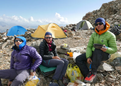Biwak pod Tetnuldi (4858 m)