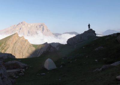 Oboz bazowy pod Shahdag (4243 m)