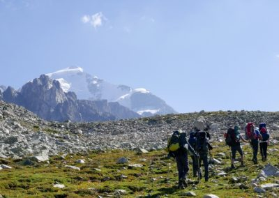 W stronę Tetnuldi (4858 m)