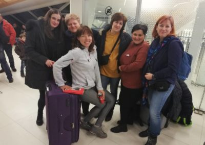 Team Ketino na lotnisku w Kutaisi
