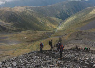 Trekking Omalo - Szatili - zejscie z przel. Atsunta